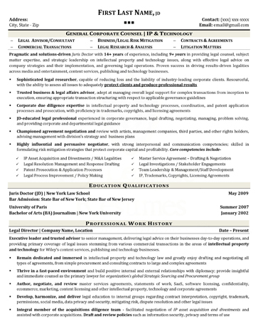 executive resume samples 2