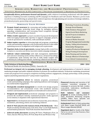 executive resume samples 3